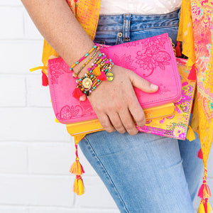Intrinsic Happiness Summer Scarf, bracelets, clutch and guided journal
