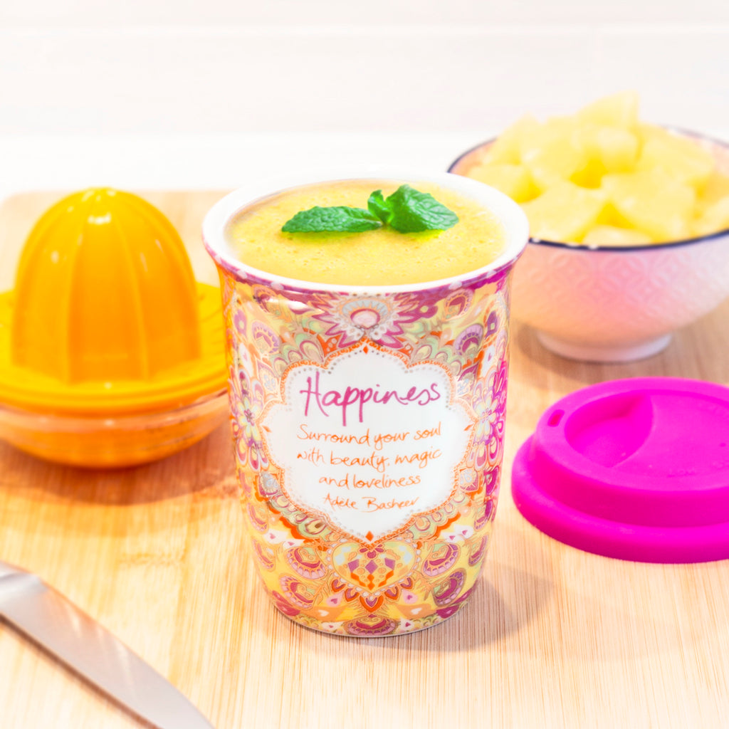 Happiness Reusable Coffee Cup