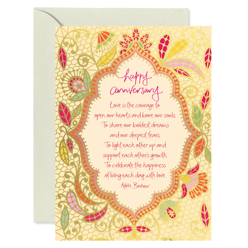 Intrinsic Happy Anniversary Greeting Card with inspirational love quote by Adèle Basheer