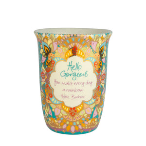 Colourful Boho Travel Mug with Adele Basheer Quote