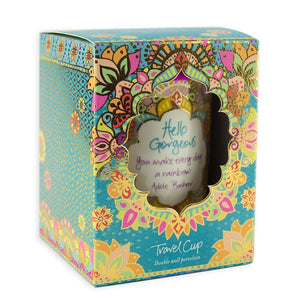 Turquoise Boho Patterned Travel Cup Gift Box