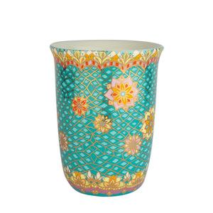 Turquoise Illustrated Ceramic Travel Mug
