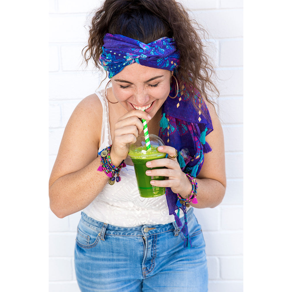 Intrinsic Hippie Couture Summer head scarf and matching bracelets