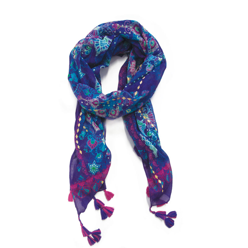 Intrinsic Hippie Couture Tassel Scarf