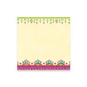 Intrinsic Kaleidoscope Tribe Pink and Green Patterned Note Paper