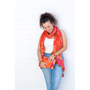 Intrinsic Live Laugh Love Tassel Scarf and stationery