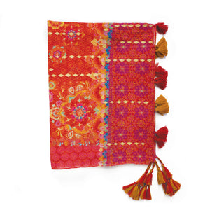 Intrinsic Live Laugh Love Tassel Scarf Folded