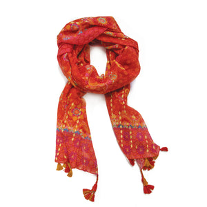 Intrinsic Live Laugh Love Tassel Scarf