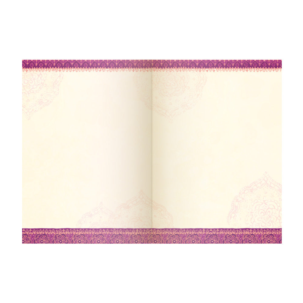 Intrinsic Soulful Purple A5 Blank Hardcover Journal