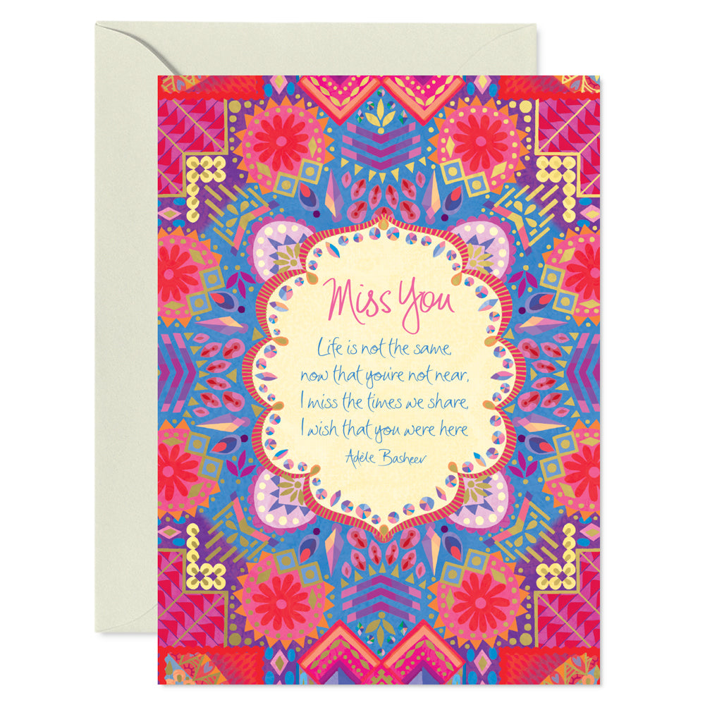 Intrinsic Miss You Friendship Inspirational Greeting Card