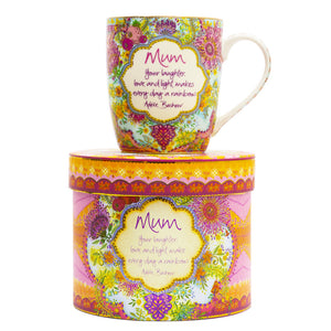 Mum Native Blooms Mother's Day Ceramic Mug Gift Boxed