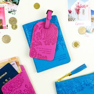Intrinsic Pink and Blue Vegan Leather Travel Accessories