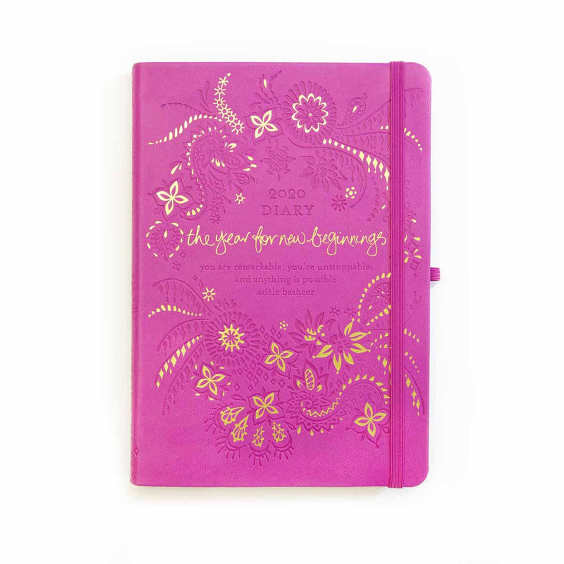 2020 Mystic Magenta Pink Diary, Planner + Journal - New Beginnings