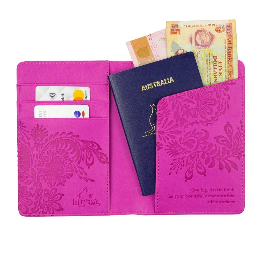 Intrinsic Pink Mystic Magenta Passport Cover