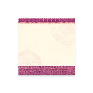 Purple Paisley Patterned Note Paper