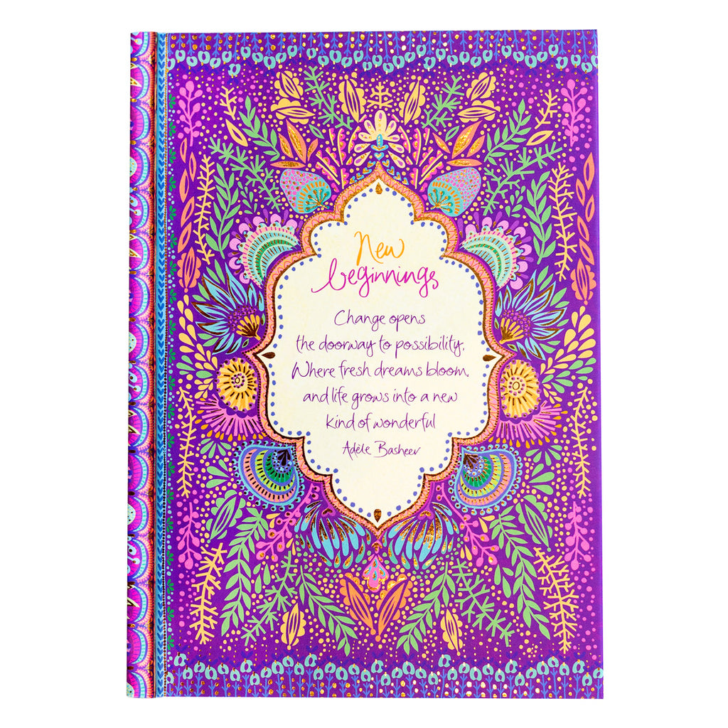 Intrinsic New Beginnings Purple Office Stationery Journal Notebook
