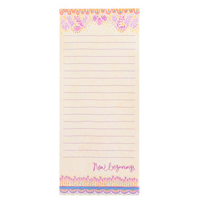 Intrinsic New Beginnings Purple Magnetic To-Do List Pad and Stationery