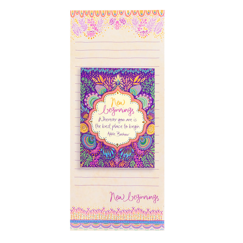 Australian Intrinsic New Beginnings Magnetic Shopping List Pad and To Do List