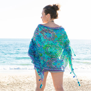 Intrinsic Persian Moonlight summer beach scarf