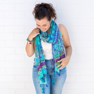 Intrinsic Persian Moonlight summer scarf and bracelets