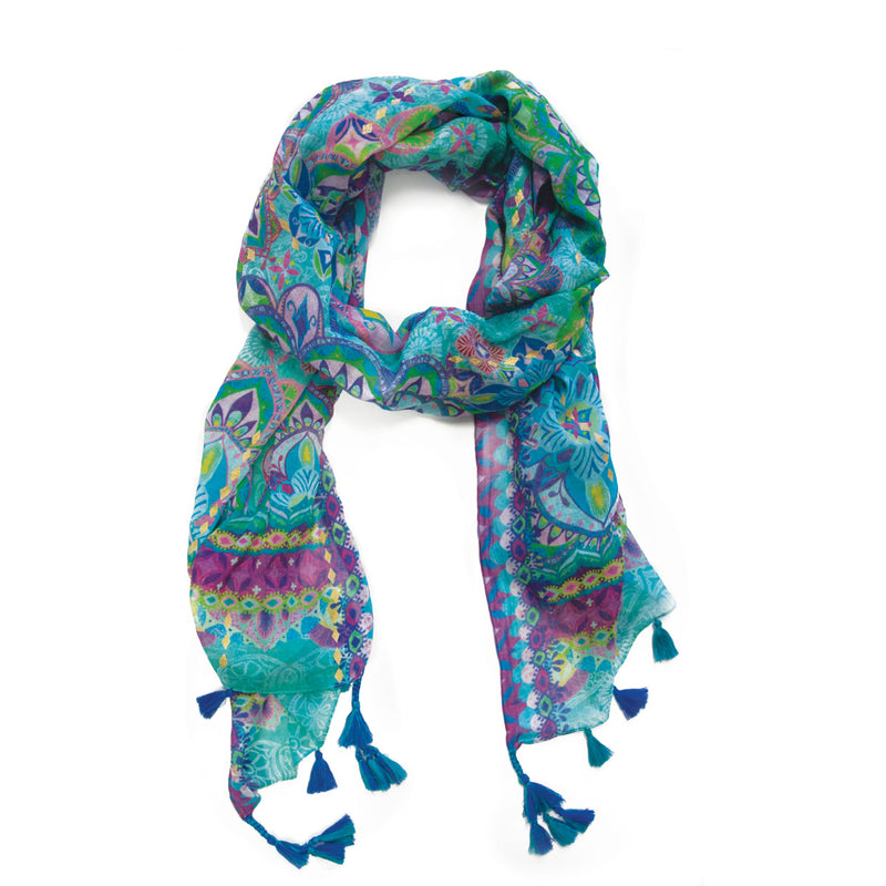 Intrinsic Persian Moonlight Tassel Scarf