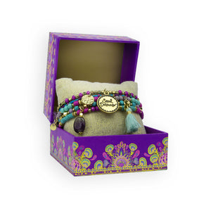 Intrinsic Soul Dreamer Purple and Turquoise Beaded Bracelet Gift Set