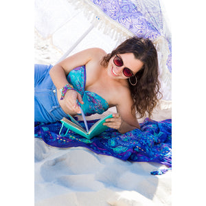 Intrinsic Persian Moonlight Summer beach scarf top and diary