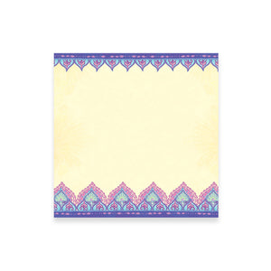 Intrinsic Office Stationery Note Paper with Purple and Lavender Decorative Trim