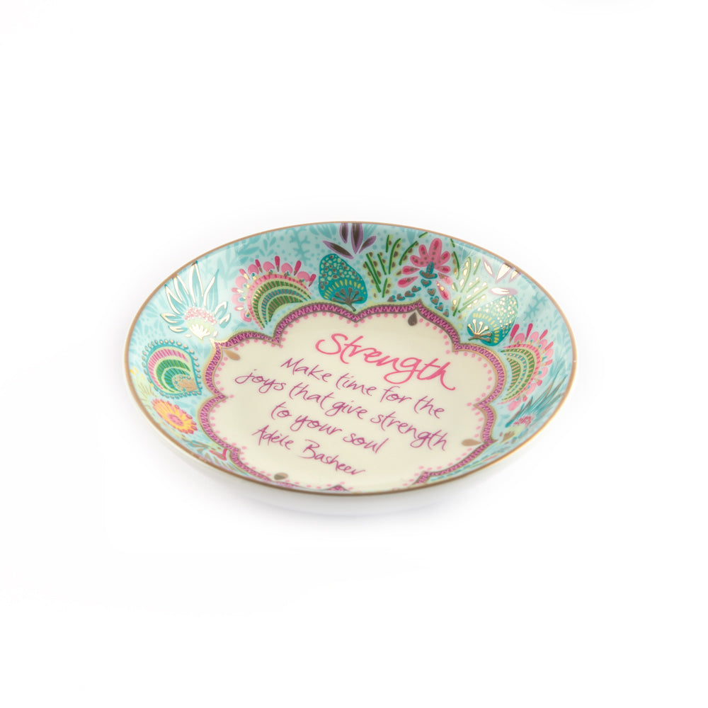Intrinsic Healing Thoughts Strength Pastel Jewellery Dish