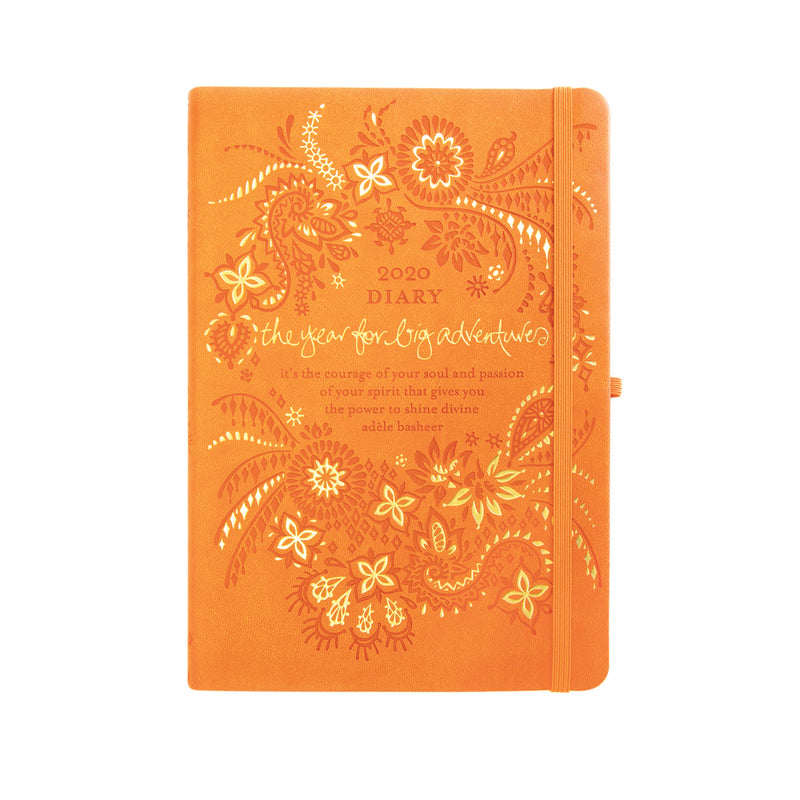 Intrinsic 2020 Sunrise Orange Inspirational Daily Planners and Journals with positive quotes