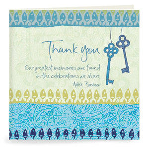 21st Blue Thank You Cards Set of 20