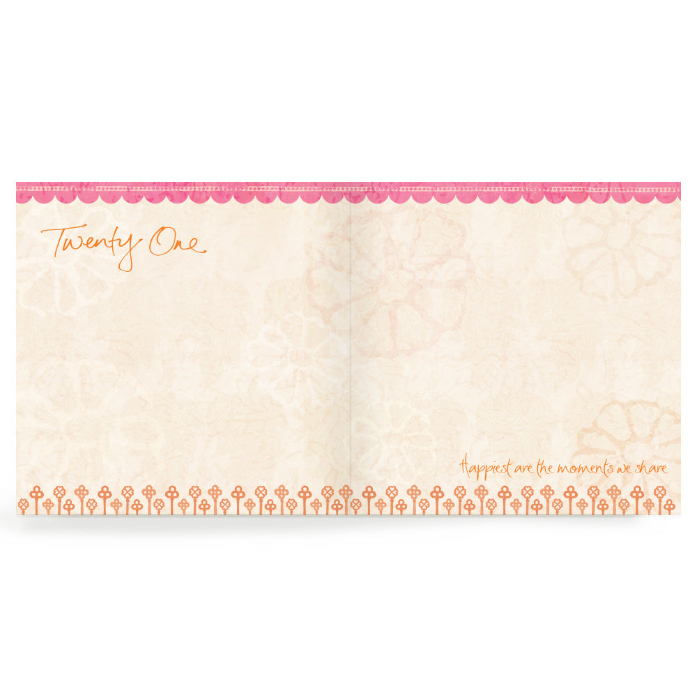 21st Pink Thank You Cards Set of 20