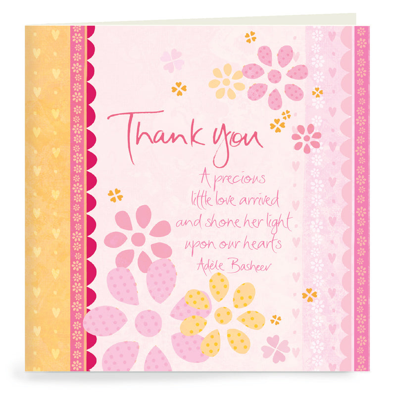 Baby Pink Thank You Cards Set of 20