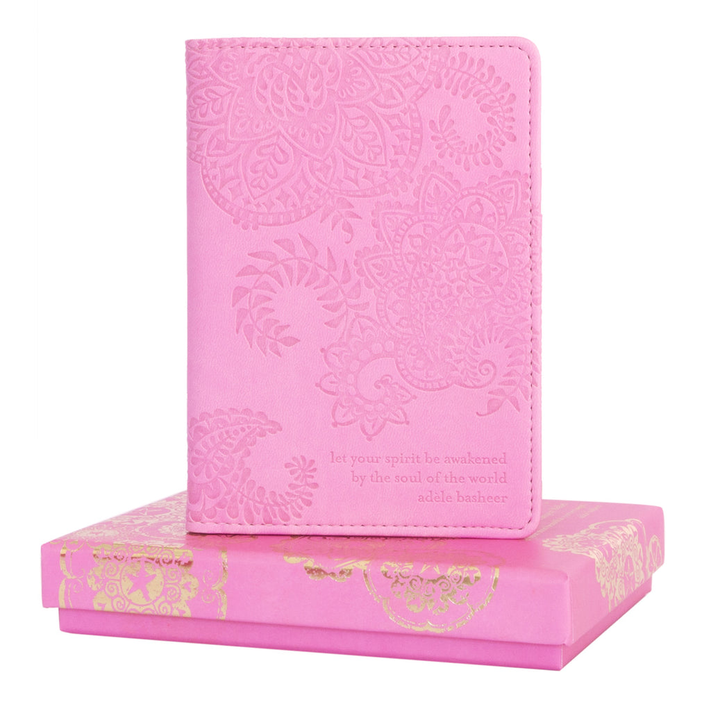 Vintage Pink Passport Wallet