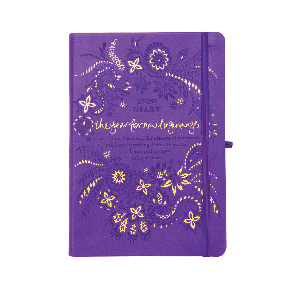 2020 Intrinsic Violet Purple Diary, Planner and Journal for New Beginnings