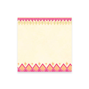 Pink and Orange Illustrated Patterned Note Paper