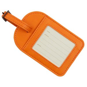 Intrinsic Sunrise Orange Travel Luggage Tag Back