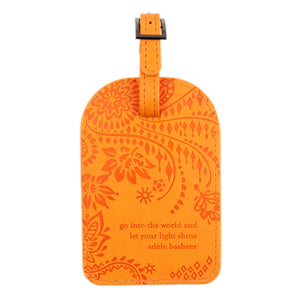 Intrinsic Sunrise Orange Boho Travel Luggage Tags