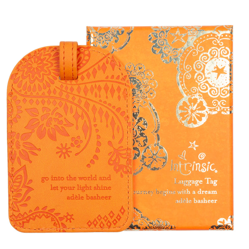 Intrinsic Sunrise Orange Travel Luggage Tags