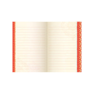 Intrinsic Red Boho Lined Journal
