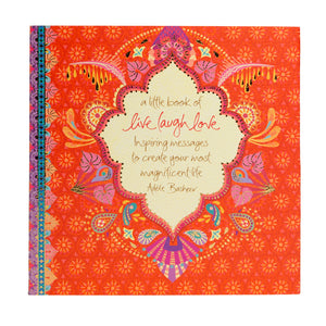 Live Laugh Love Red Inspiring Quote Book
