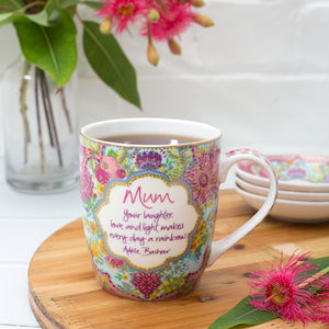 Mum Inspirational Ceramic Coffee Mug for Mother's Day with Mum quote
