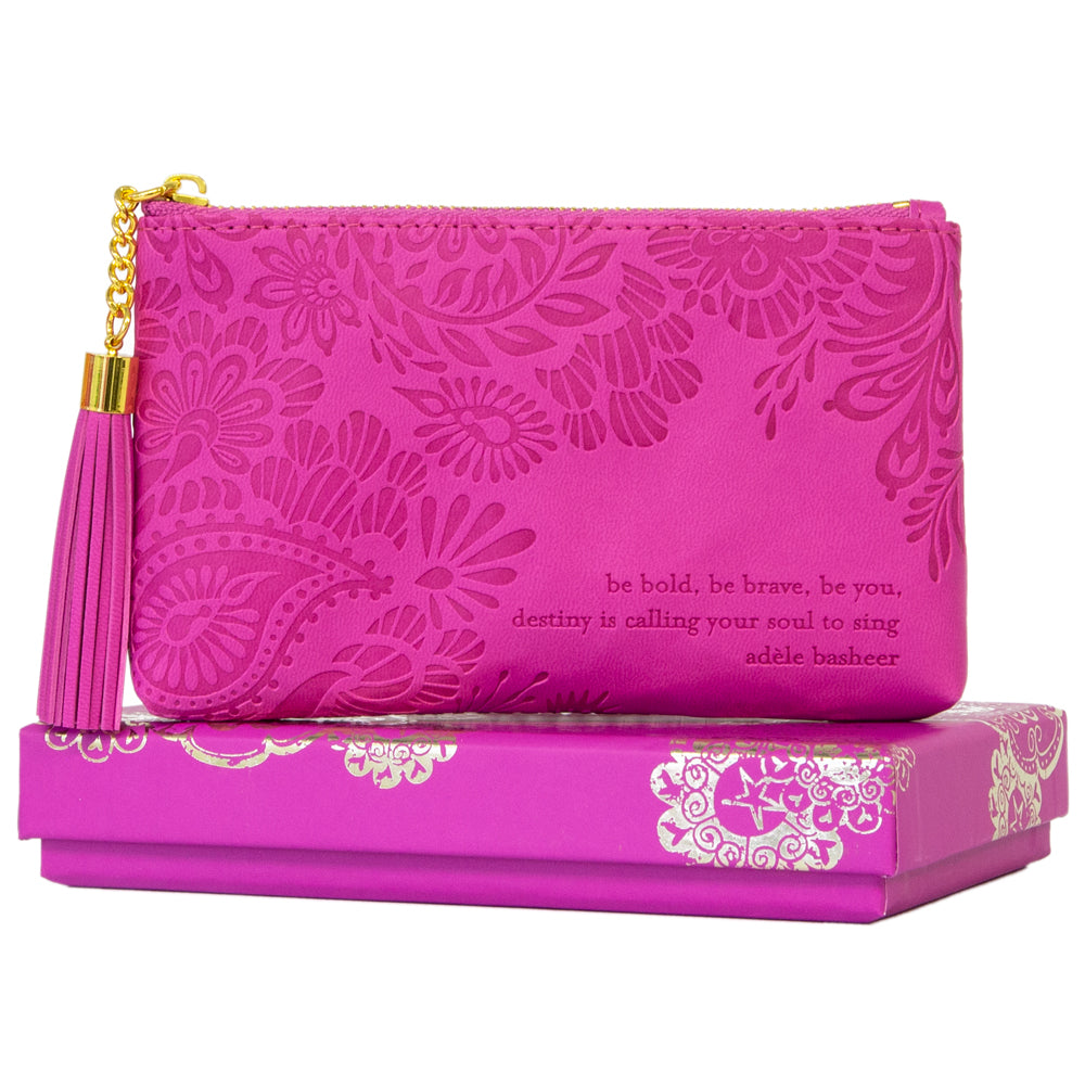 Mystic Magenta Hot Pink Travel Coin Purse