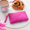 Australian vegan leather pink coin purse wallet clutch