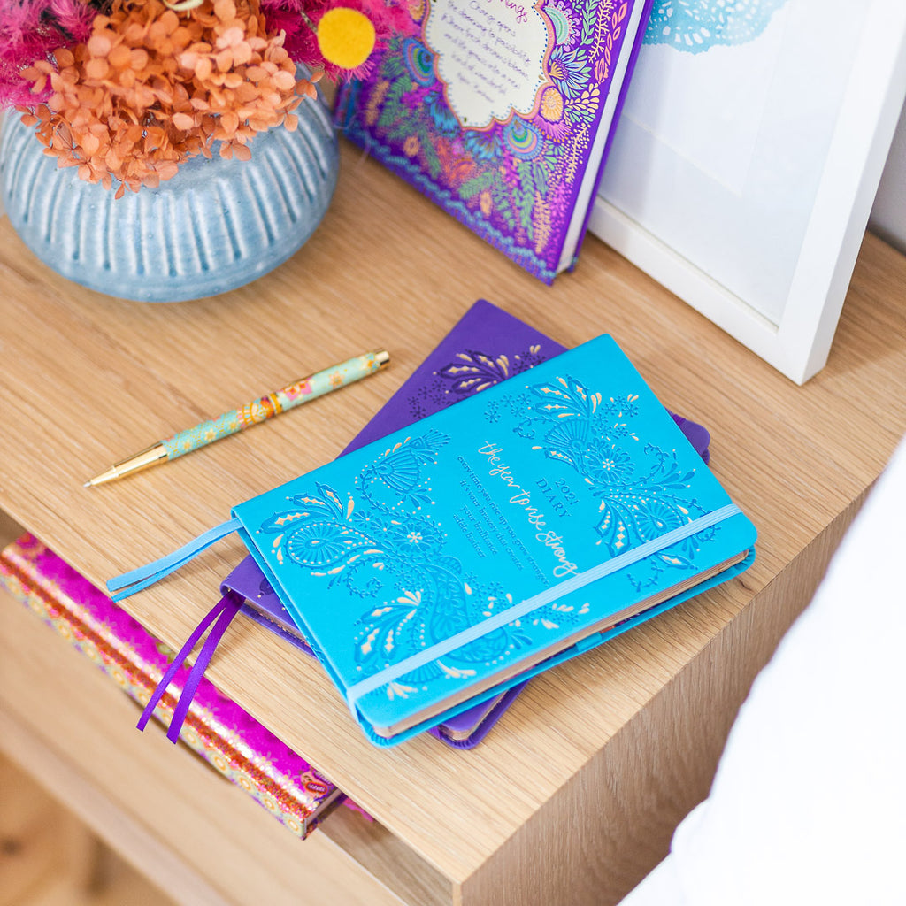 Intrinsic Adèle Basheer Blue 2021 Diary Planner with inspirational quotes and messages