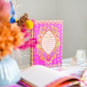 Australian Intrinsic Hot Pink Create Dream Believe A5 Journal with Adèle Basheer inspirational quote