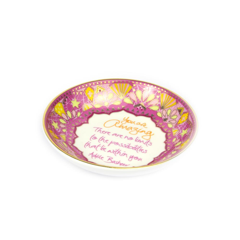 Intrinsic Hot Pink Boho Trinket Dish