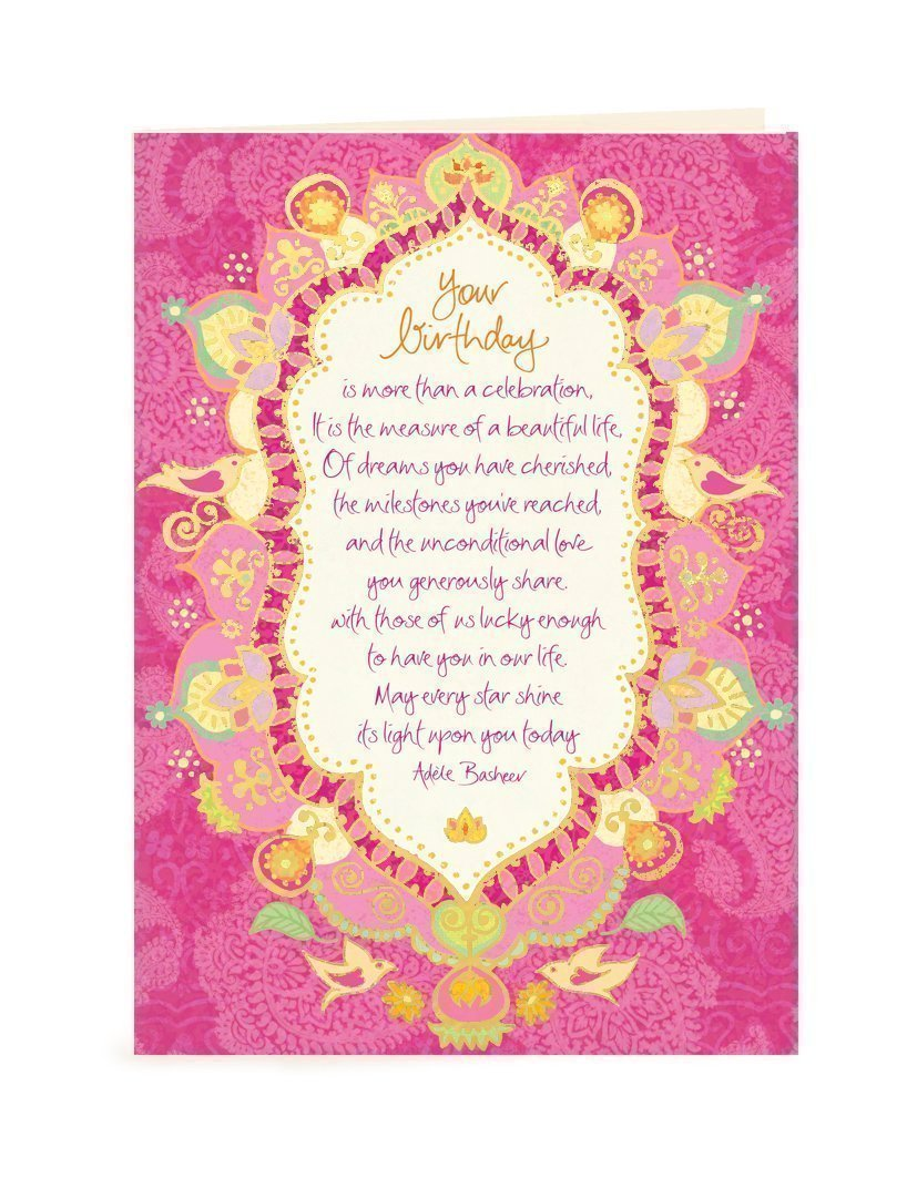 Intrinsic Beautiful Life Birthday Greeting Card