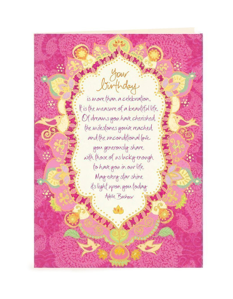 Intrinsic-Beautiful Life Birthday Greeting Card