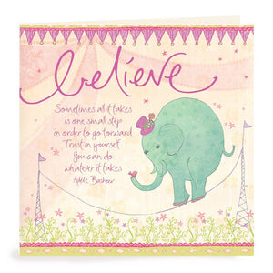 Intrinsic-Believe Elephant Greeting Card